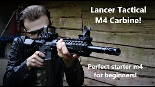 Lancer tactical m4 carbine! Cheap and perfect for beginners!