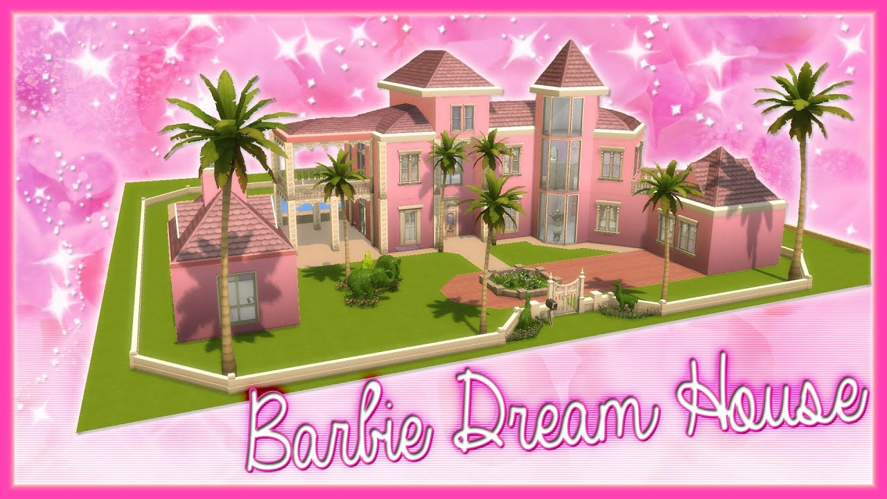 The Sims 4 Speed Builds Barbie Dream House Youtube