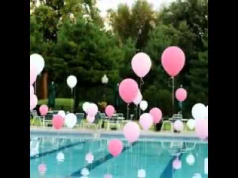 Easy pool party decorating ideas youtube for 15 years party decoration