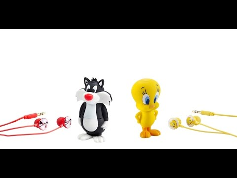 Looney Tunes Tweety & Slyester MP3 players Unboxing