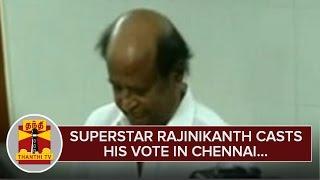 Superstar Rajinikanth casts his Vote in Chennai – Thanthi Tv
