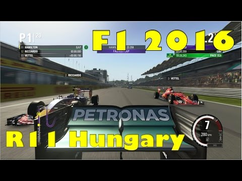 F1 2016 Championship - Race 11 Hungary (mini race weekend)