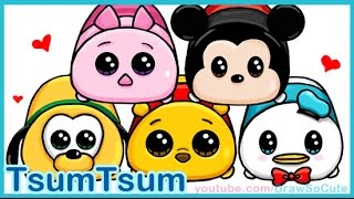 How to Draw Disney Tsum Tsum Cute and Easy step by step