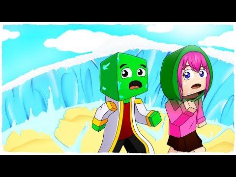 👉 MINECRAFT - BASE VS TSUNAMI DE HIELO - ¡ICE TSUNAMI CHALLENGE!