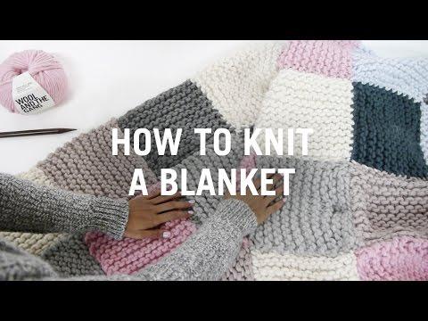 Eine Decke stricken - Schritt-für-Schritt