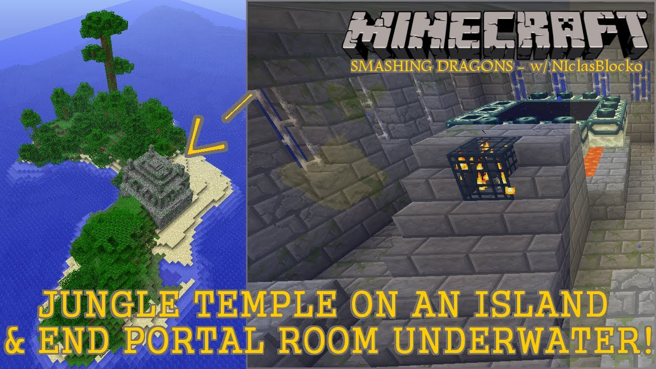 Jungle Temple On An Island Amp Underwater End Portal Room
