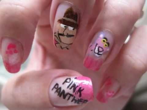 Nailart: Pink Panther - Nailart: Pink Panther - YouTube