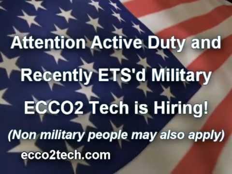ECCO2 Tech is Hiring Military! (stock Symbol RVPL)