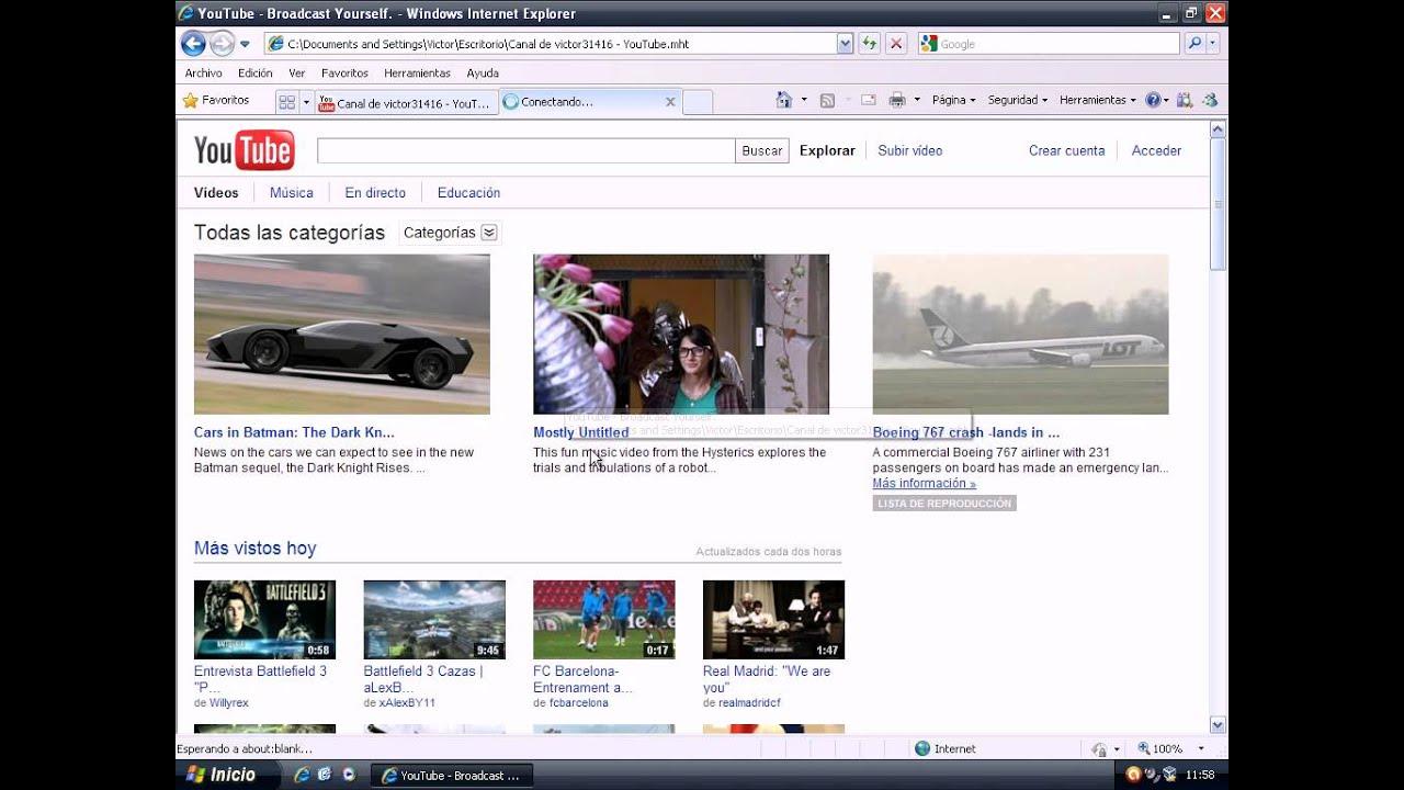 Tema 3.1 - Internet Explorer 3ª Parte - YouTube