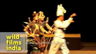 Reamke Performing Art Troupe from Cambodia perform during International Ramayana Mela in Delhi