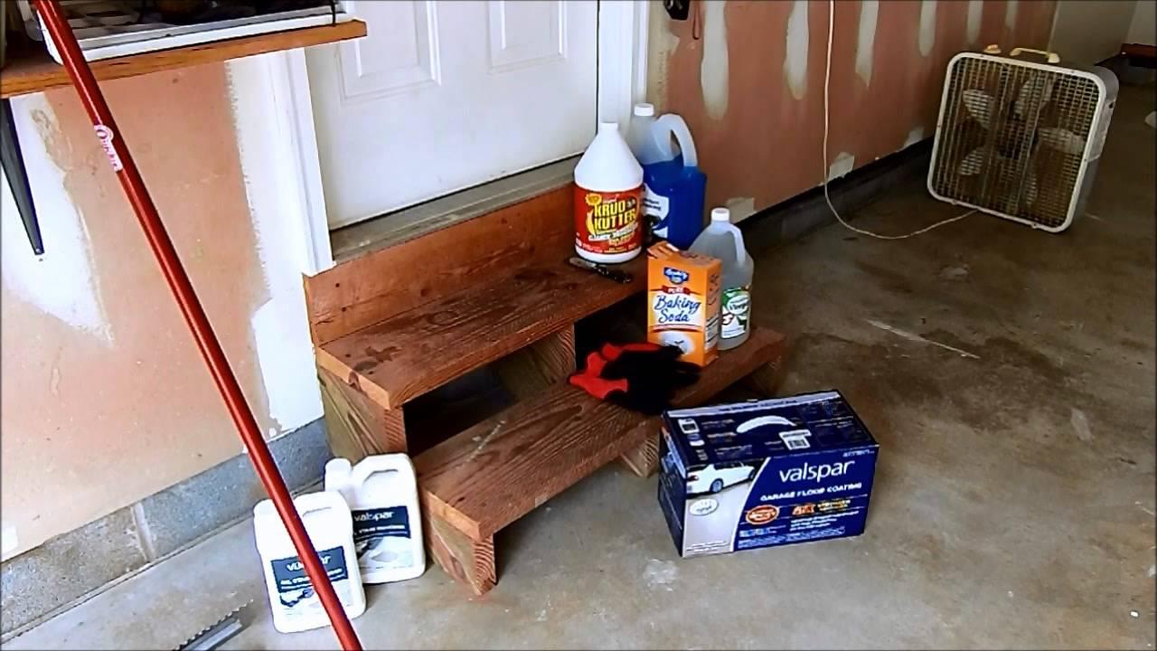 Prep For Epoxy Garage Floor : Epoxy garage floor coating part prep youtube