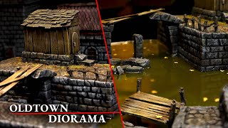 Oldtown Diorama - my first shot at resin pouring terrain! (D&D, Warhammer)