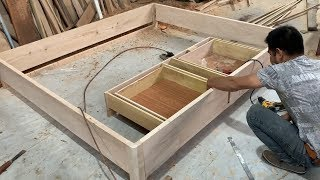 How To Making A Bed With Storage Drawers Easy  Woodworking Projects