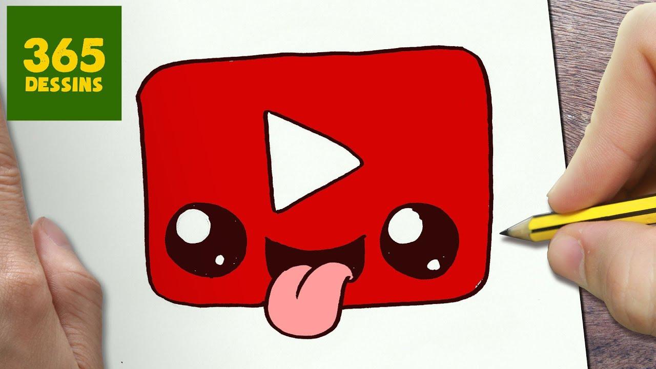 Comment Dessiner Logo Youtube Kawaii Etape Par Etape Dessins Kawaii Facile Youtube