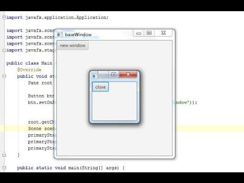 JavaFX. Tutorial 26. Modal Window (Урок 26. Модальное окно) Rus.
