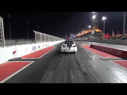 Lexus ISF Twin Turbo Crash - Race car takes flight and jumps a fence - Crash Video