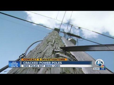 Cracked power poles