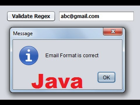 Java prog#143  Using Regular Expressions in Java