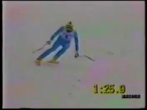 Pirmin Zurbriggen wins downhill (Schladming 1988)