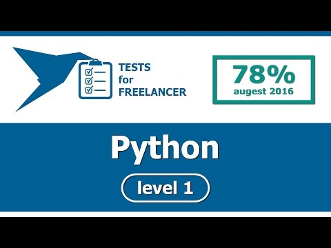 Freelancer - Python - level 1 - test (78%)