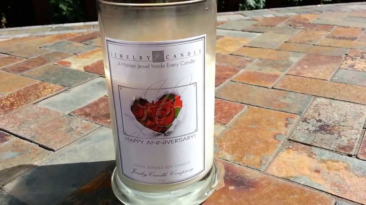 Jewelry Candle Review!-Greeting Candles!! - YouTube