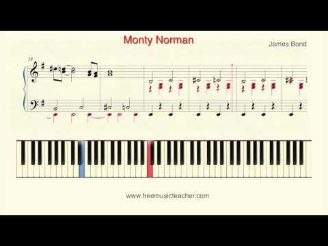 "How To Play Piano: James Bond ""Monty Norman"" Piano Tutorial by Ramin Yousefi"
