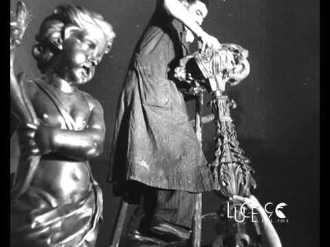 Lavori di preparazione per la mostra sul barocco a Torino (1937)