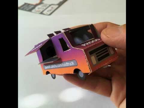Food Truck Paper Punch Out