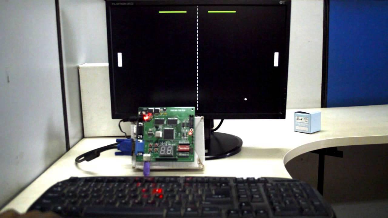 FPGA Implementation of PING PONG Game Spartan3 FPGA Image Processing Kit