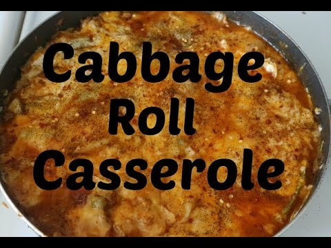 Cooking 101: Cabbage Roll Casserole