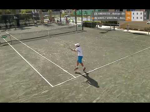 Adrian Andreev [3] vs. Nicolas Alvarez Varona 6-1, 6-7, 6-3 NJT Masters B12's (QF) 06.12.2013.