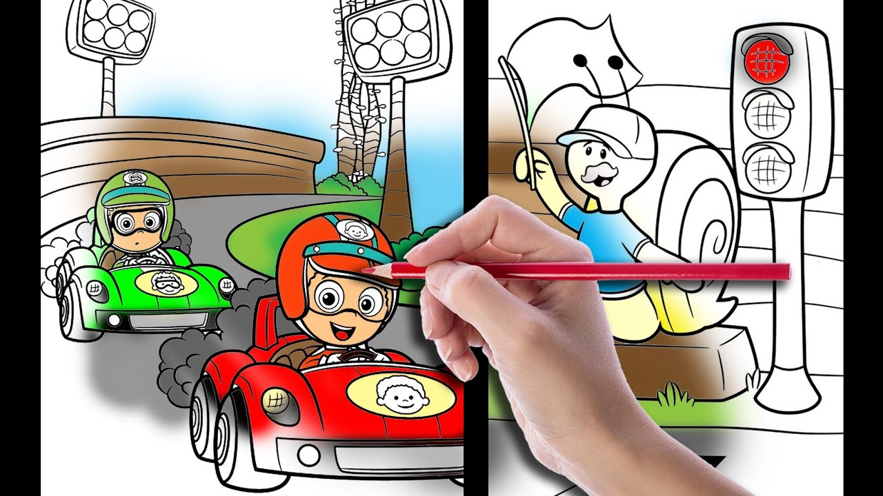 bubble guppies race coloring book bubble guppies coloring pages