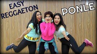 EASY Reggaeton Dance Fitness Choreography by Vijaya Tupurani   PONLE   J Balvin