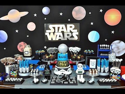 Fiesta de star wars party2017 mesa de dulces decoracion for Decoracion de cuarto star wars