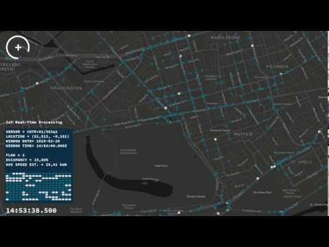 Transport for London demo: live traffic visualisation