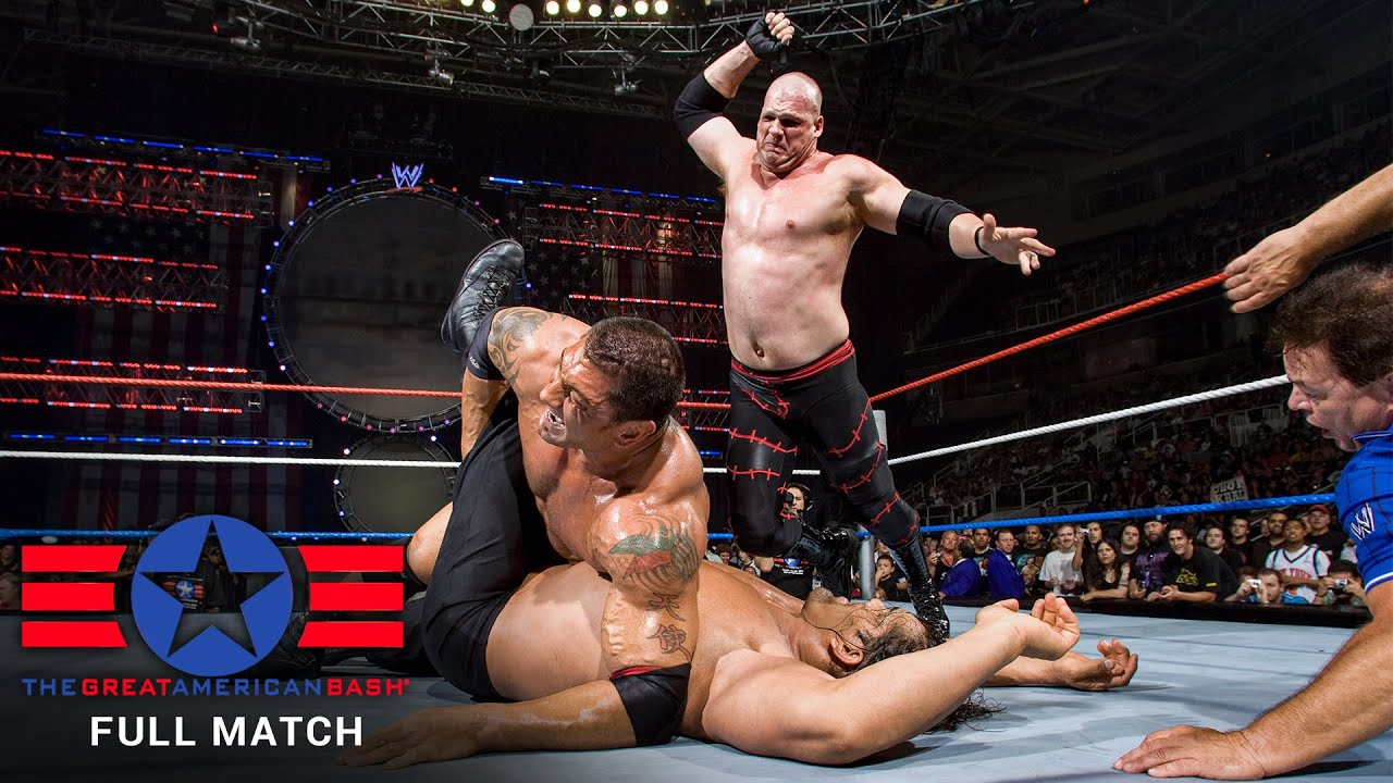 Download FULL MATCH- The Great Khali vs. Batista vs. Kane - World Title Match: WWE Great American Bash 2007