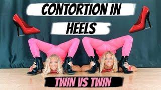 CONTORTION in HEELS Challenge | Twin Vs Twin!