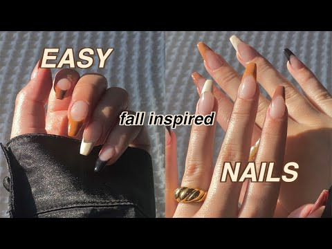 EASY FALL INSPIRED NAILS