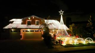 Christmas Light Show 2011 in Fountain Valley, CA by Devers Dream Weavers 54,020 LEDs No.2