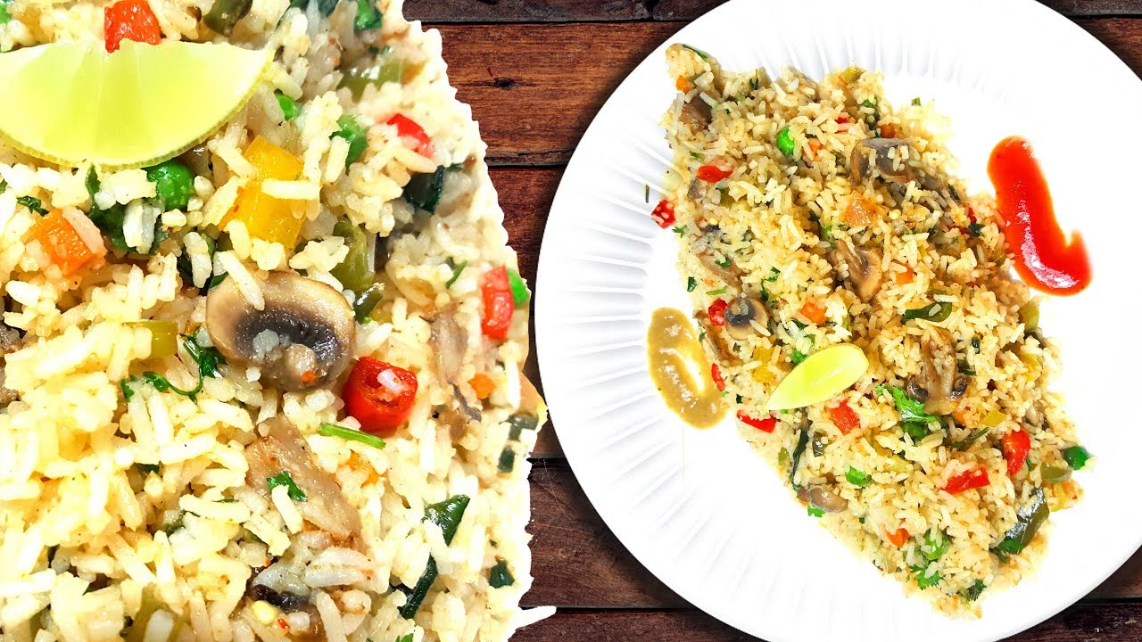 Fried rice tasty and easy how to make mushroom and vegetables fried fried rice tasty and easy how to make mushroom and vegetables fried rice recipe ccuart Images