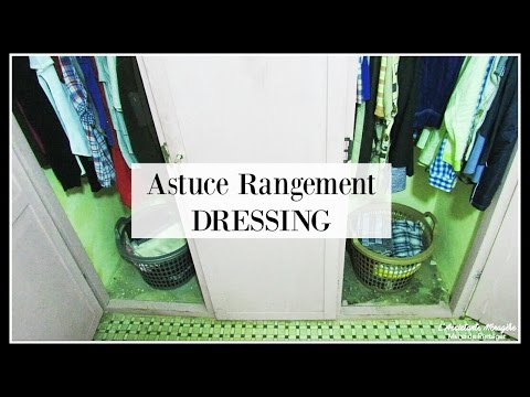 petits espaces astuce rangement dressing youtube. Black Bedroom Furniture Sets. Home Design Ideas