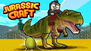 Jurassic Craft - HIDDEN WAY TO TAME T-REX! (Minecraft Dinosaurs)