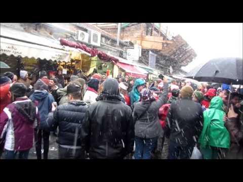 JERUSALEM SNOW Jan 9, 2015 ( Mahane Yehuda Snow Party )