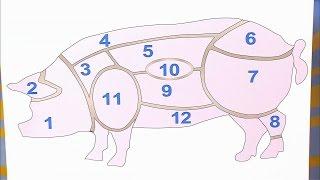 Жить здорово! Какие части в свинине можно есть.  (08.06.2016)
