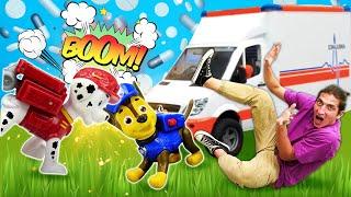 Видео про Щенячий Патруль на осмотре у Доктора Плюшевой. Игры в больницу - Время быть героем!