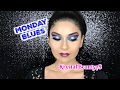 Monday Blues l Pink and Blue Cut Crease