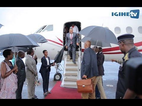 São Tomé et Príncipe Prime Minister arrived in Rwanda for Transform Africa 2017