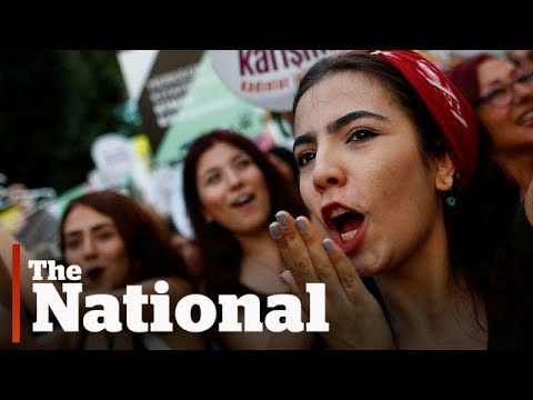 Women in Turkey protest attacks on what they're wearing