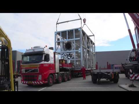 Modular construction of our biomass fast pyrolysis plant Empyro