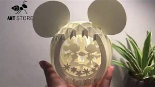HOW TO MAKE MICKEY MOUSE  WITH PAPER ART--GLOBE POP-UP--BICHPAPER ART